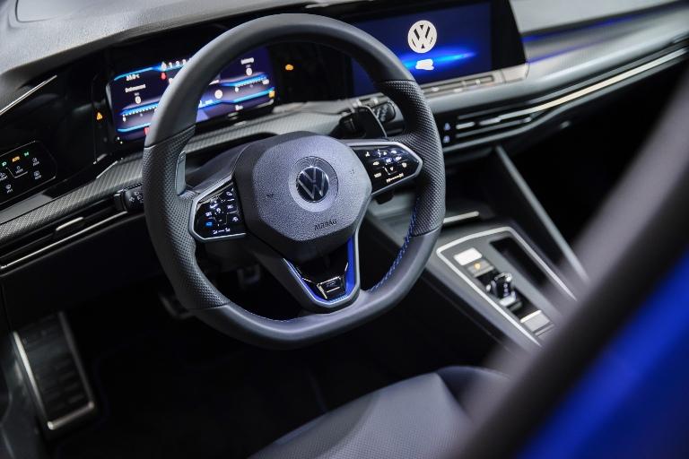 Interior front cabin of 2022 Volkswagen Golf R