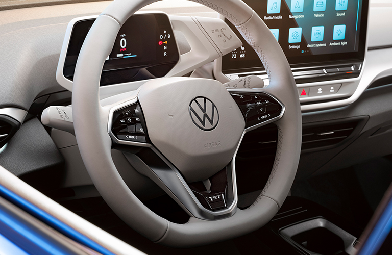 The cabin of a 2021 Volkswagen ID.4