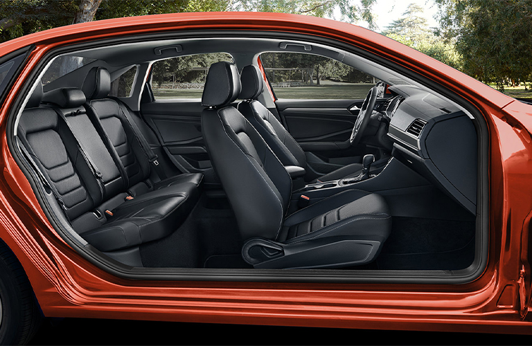 Cutaway side view showcasing the interior of a 2021 Volkswagen Jetta