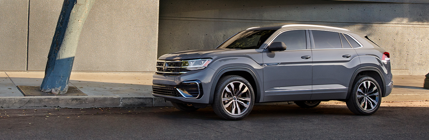 2021 Volkswagen Atlas Cross Sport parked by a building