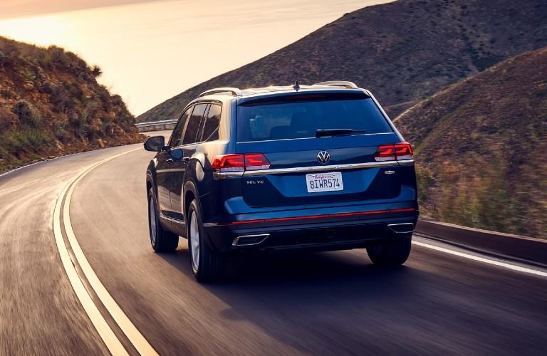2021 Volkswagen Atlas drives up a highway