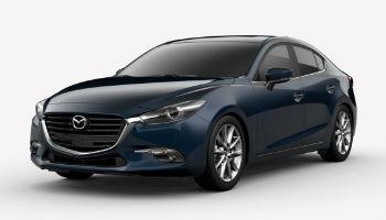 2018 Mazda3 4-Door in Deep Crystal Blue Mica
