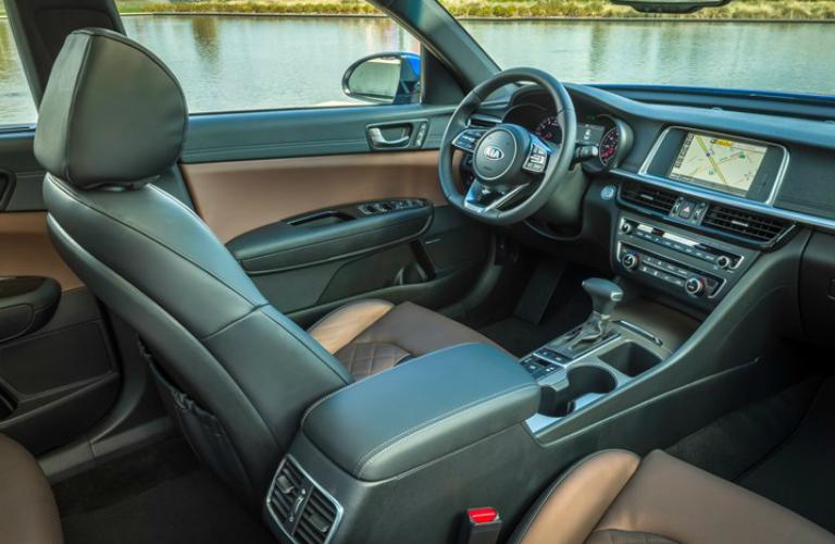 Dashboard and Front Seats of 2019 Kia Optima