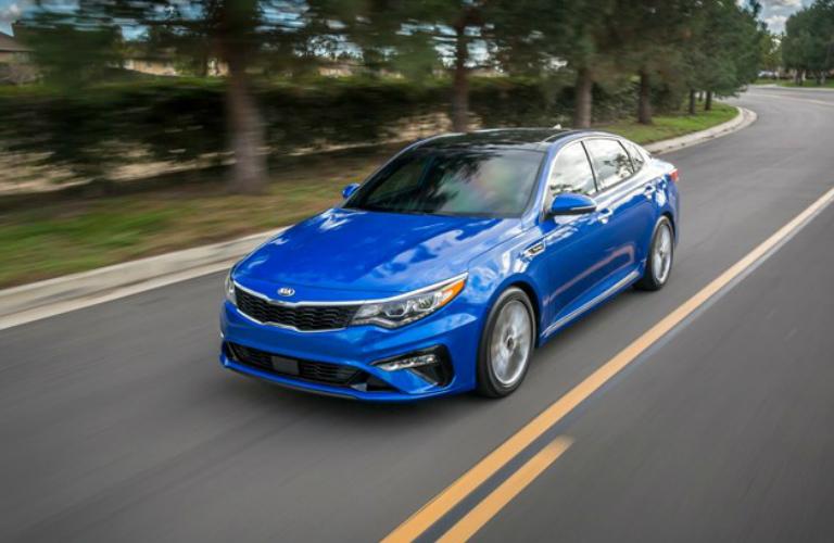 Front View of Blue 2019 Kia Optima