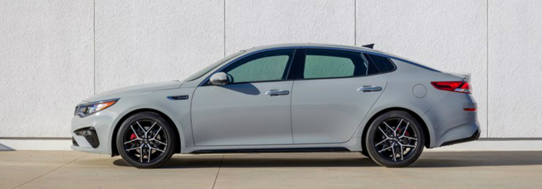 Side View of Light Grey 2019 Kia Optima