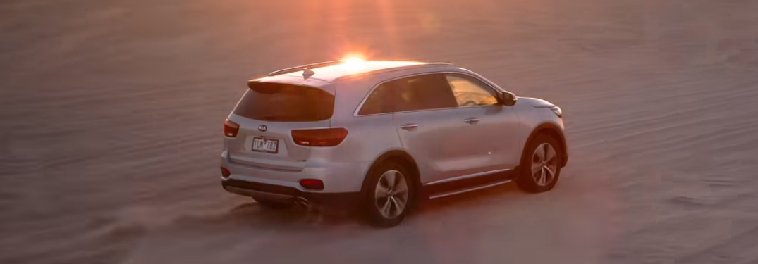 Silver 2019 Kia Sorento with the Sunset in the Background