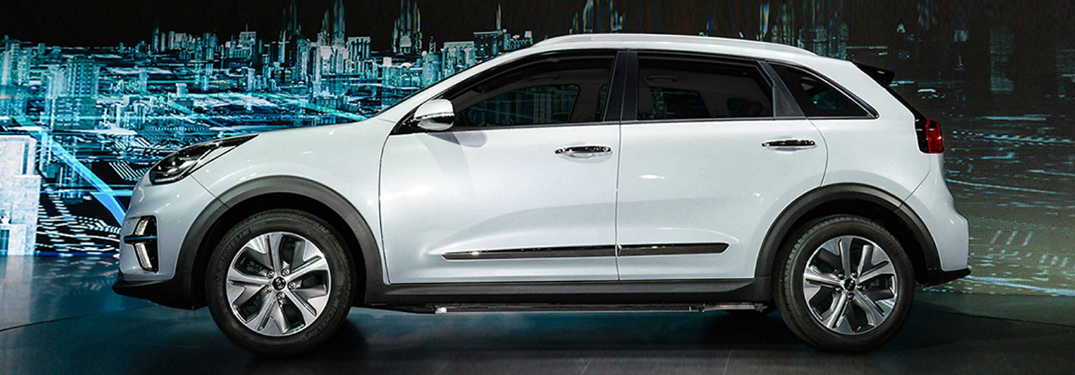 Side View of White 2019 Kia Niro EV