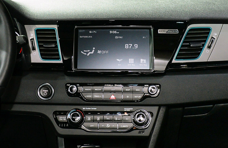 Touchscreen and Climate Control System in 2019 Kia Niro EV