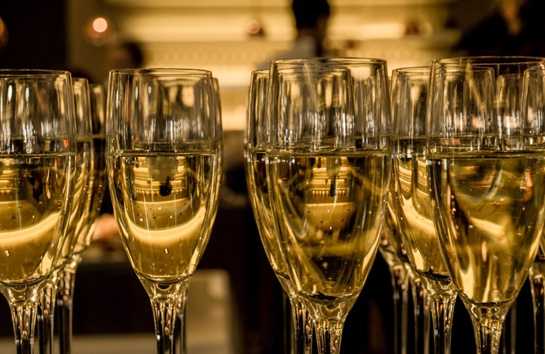Glasses of Champagne on New Year's Eve