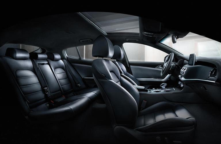 Black seats in 2020 Kia Stinger