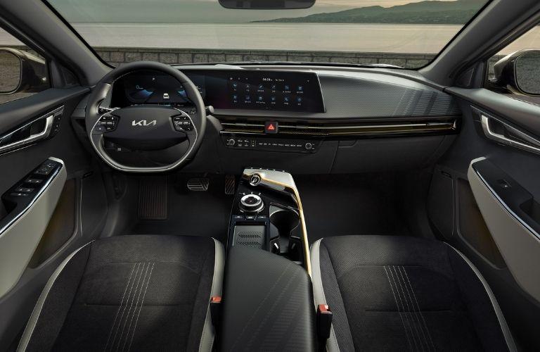 dashboard view of the 2022 Kia EV6