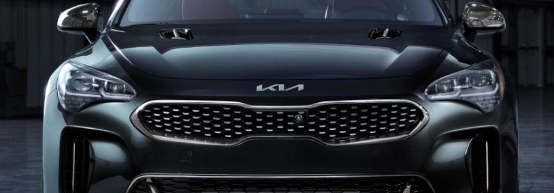 bonnet view of the 2022 Kia Stinger