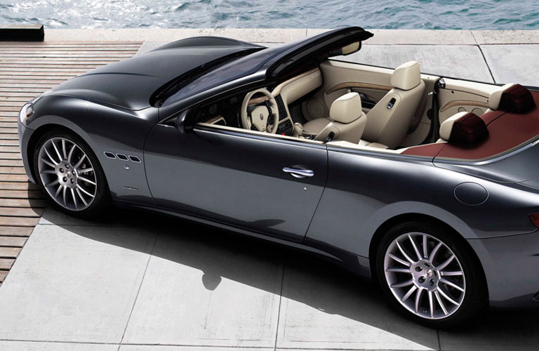 Convertible Maserati GranTursimo Parked By The Water