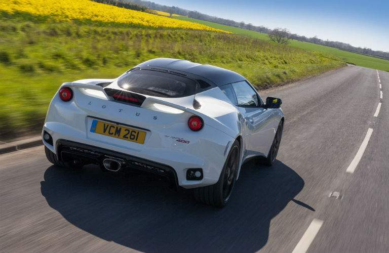 2018 lotus evora 400 rear view driving