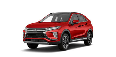 Red Diamond 2018 Mitsubishi Eclipse Cross exterior front fascia and drivers side