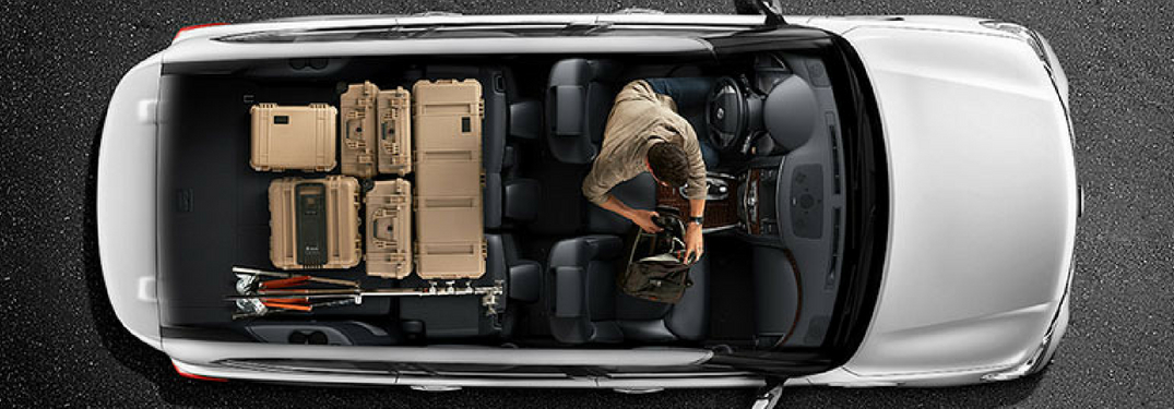 cargo space inside the nissan armada