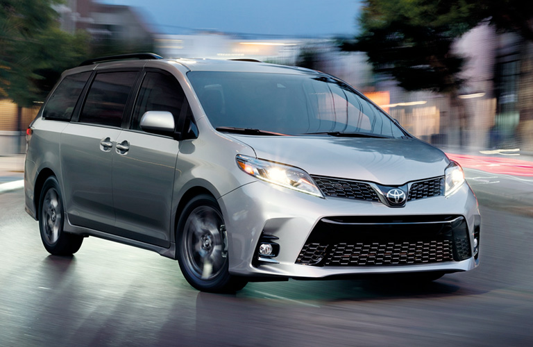 exterior front of the 2019 Toyota Sienna