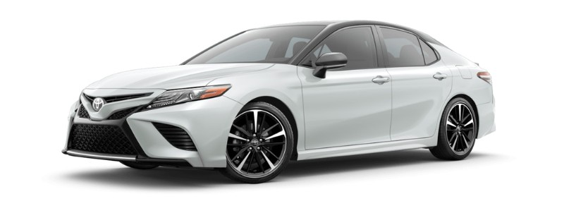 2019 Toyota Camry Wind Chill / Midnight Black