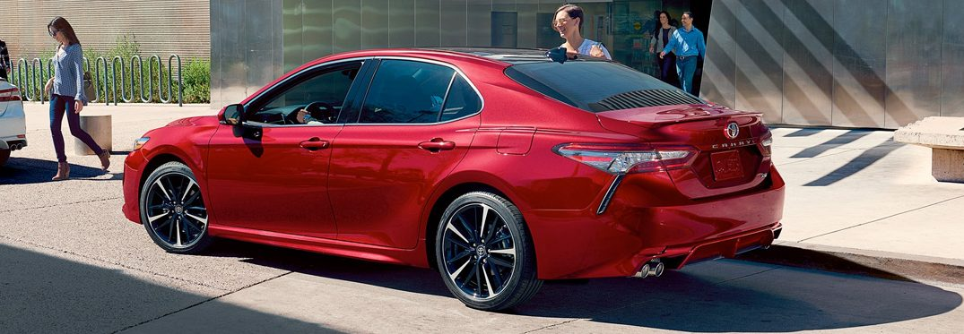 2019 Toyota Camry parked in city