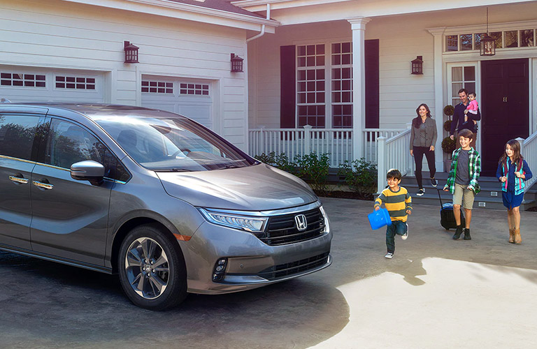 2021 Honda Odyssey parked in a driveway