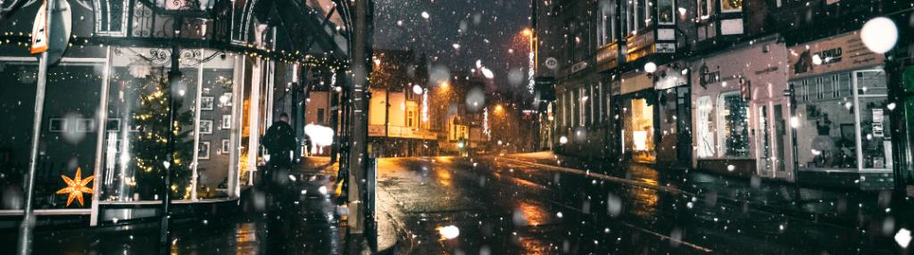 City street in winter