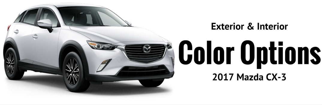2017 mazda cx-3 color options