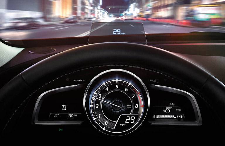 2017 mazda cx-3 head up display dashboard