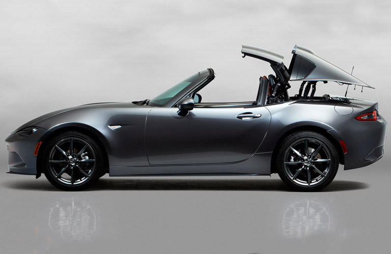 2017 mazda mx-5 miata rf hard top convertible silver color