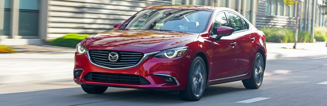 red 2017 Mazda6 on the road