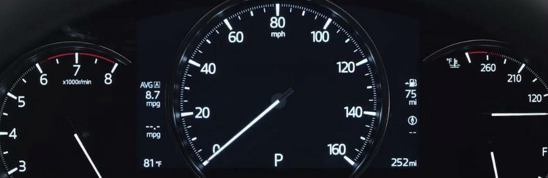 close-up of Mazda configurable display