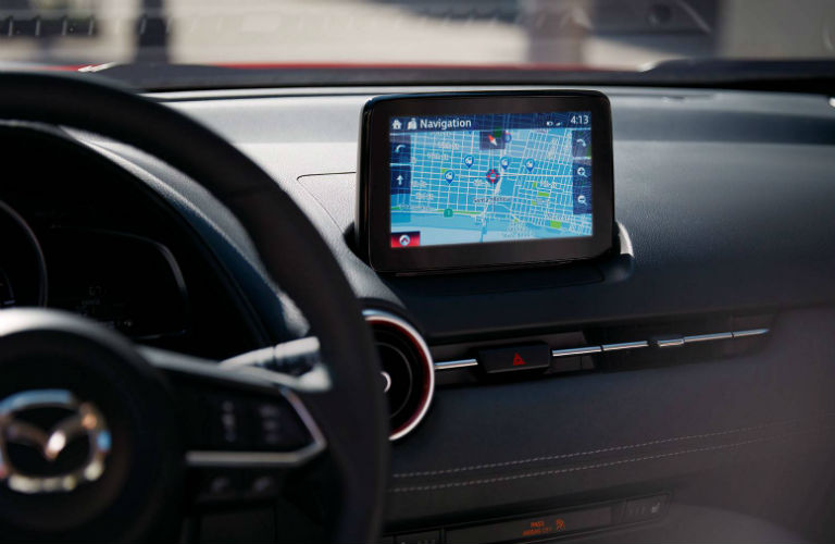 Mazda Connect infotainment screen inside 2019 Mazda CX-3