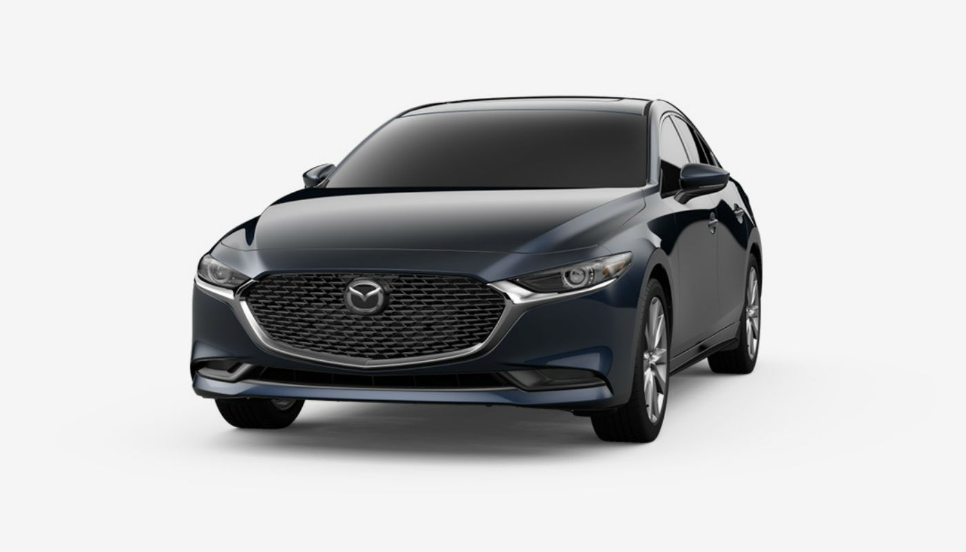 2019 Mazda3 Sedan in Deep Crystal Blue