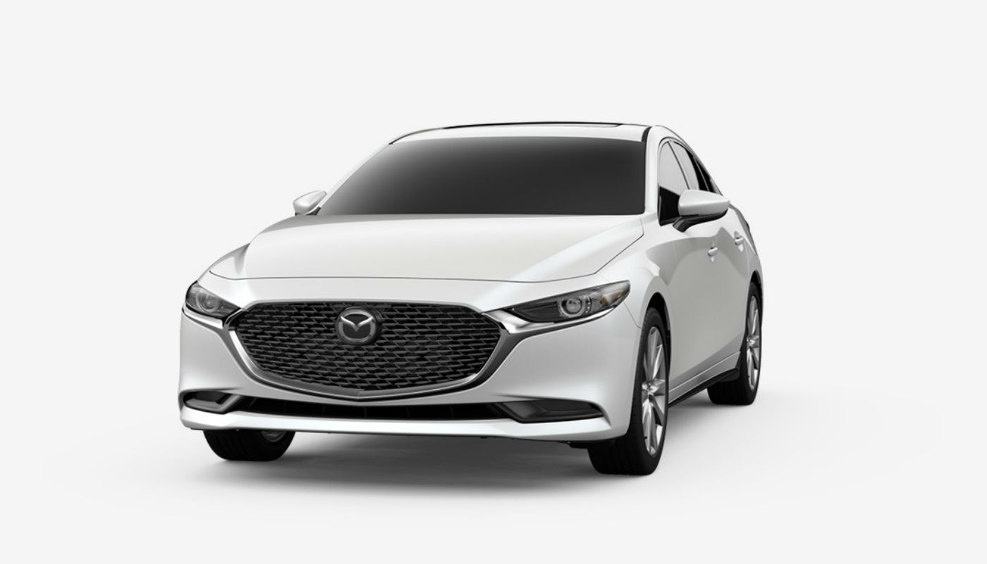 2019 Mazda3 Sedan in Snowflake White Pearl