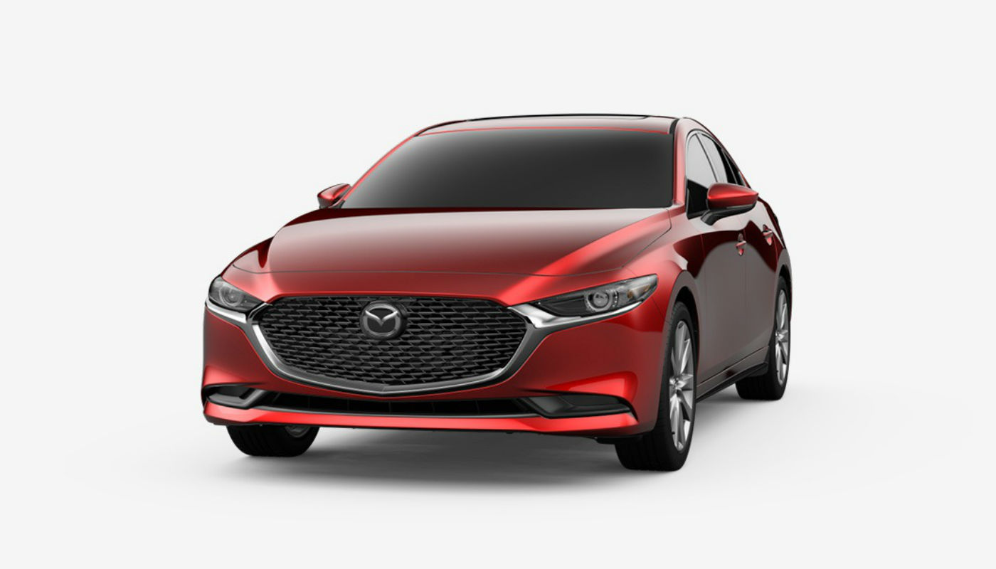 2019 Mazda3 Sedan in Soul Red Crystal Metallic