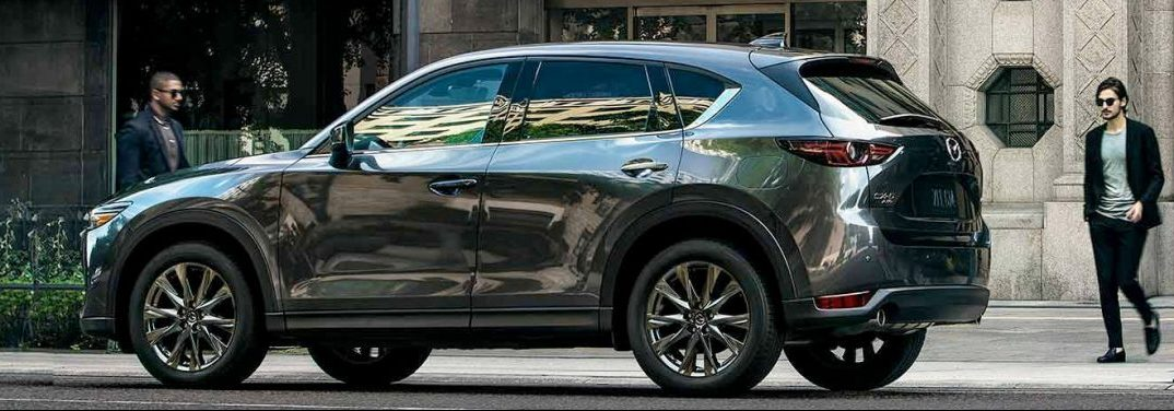 "Exterior side-view of a 2019 Mazda CX-5. It's hard not to wonder, ""what's inside that thing?"""