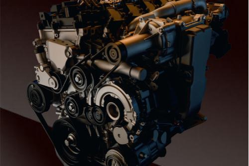 close-up of the 2020 SKYACTIV-X engine