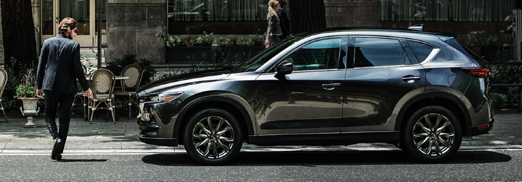 2020 Mazda CX-5 parked near boutique