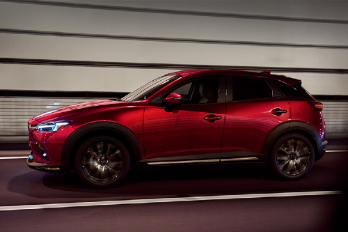 2019 CX-3 driving in tunnel