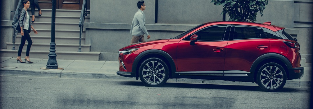 2020 CX-3 parked on city side street