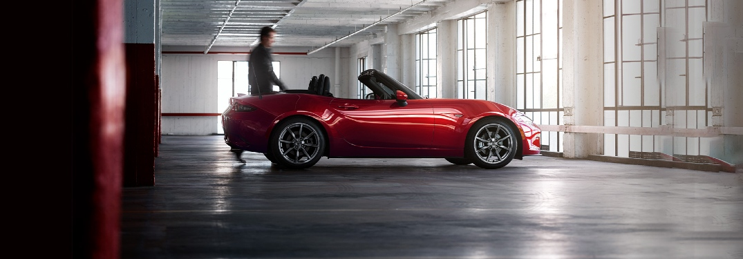 2020 Miata in a parking garage