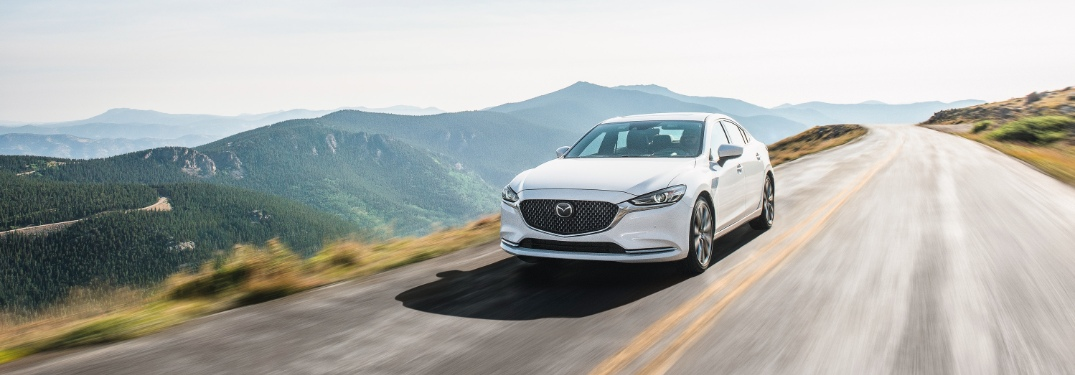 2020 Mazda6 driving mountain road