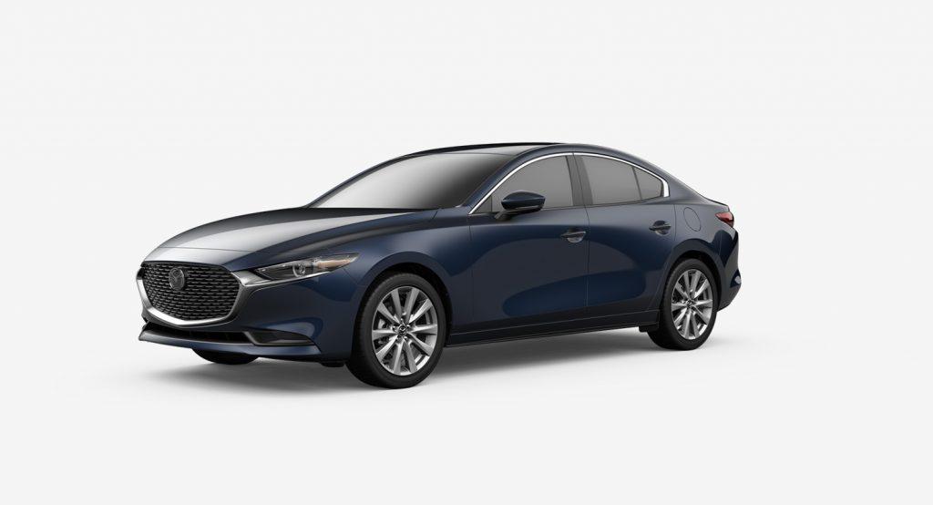 2020 Mazda3 Sedan crystal blue