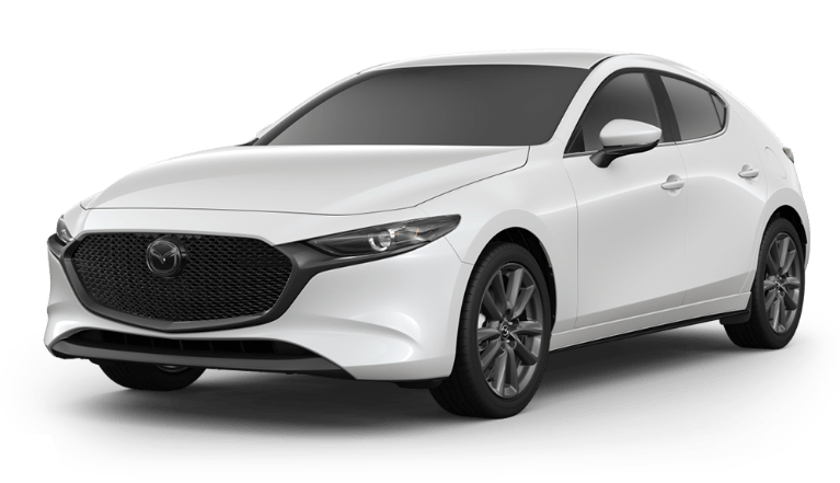 2020 Mazda3 Hatch snowflake white