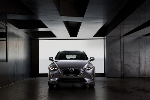 2020 CX-3 parked in industrial looking building