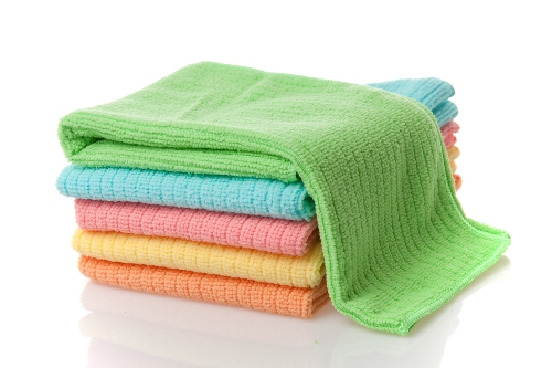 stack of microfiber towels