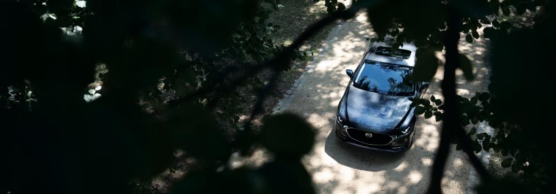 2021 Mazda3 aerial shot