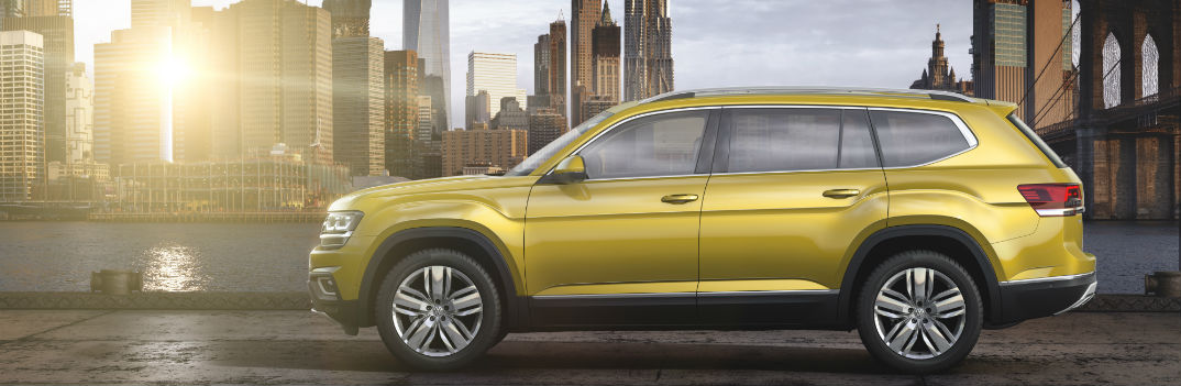 2018 volkswagen atlas side view