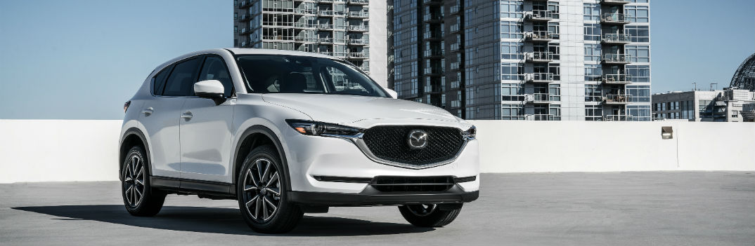 2018 mazda cx-5 parked in an empty lot