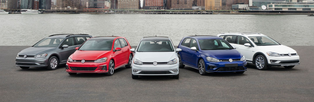 2018 volkswagen golf family lineup