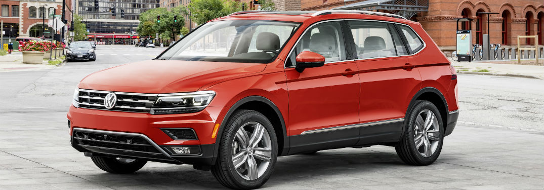 2018 volkswagen tiguan parked on the street